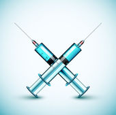 Two medical syringe — Stock Vector