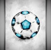 Soccer ball watercolor — Stock Vector