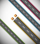 Road repair — Stock Vector
