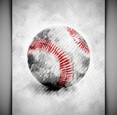 Baseball ball watercolor — Stock Vector