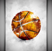 Basketball ball watercolor — Stock Vector