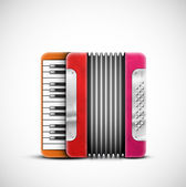 Colorful accordion — Stock Vector