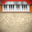 Background with piano - Image vectorielle