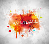 Paintball banner — Stock Vector