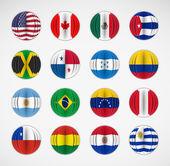 Set vlaggen — Stockvector