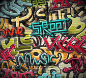 Graffiti grunge texture — Stock Vector