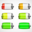 Set of batteries — Stock Vector