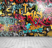 Graffiti on wall — Stock Vector