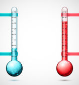 Two thermometers — Stock Vector