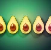 Background with avocado — Stock Vector