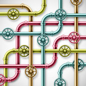 Colorful pipes — Stock Vector