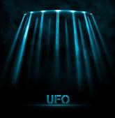 UFO background — Stock Vector