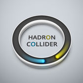 Hadron collider — Stock Vector