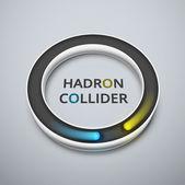 Hadron collider — Stock Vector