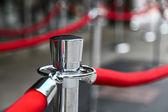 Kırmızı halı çit — Stok fotoğraf