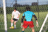 Football (soccer) goalie — Foto de Stock