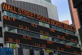 Stock Market Board — Stock Photo