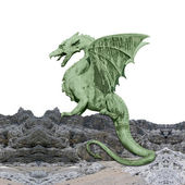 Green dragon - photomontage — Stock Photo