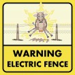 Royalty-Free Stock Vector Image: Electric fence sign