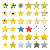 Collection of different stars — Stock Vector