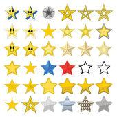 Farklı yıldızlar topluluğu — Stok Vektör