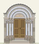 Romanesque portal — Stock Vector