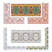Art Nouveau seamless borders — Stock Vector