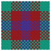 三色格子呢 — 图库矢量图片