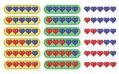 Rating hearts — Vector de stock