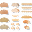 Bread collection — Stock Vector