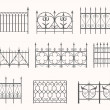 Antique fences - first set — Stock Vector #30637291