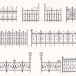 Antique fences - second set — Stock Vector #30637315