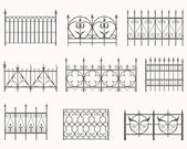 Antique fences - first set — Stock Vector