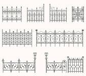 Antique fences - second set — Stock Vector
