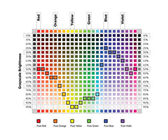 Color values in grayscale equivalents — Stock Vector