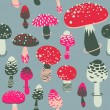 Amanita seamless pattern. Vector — Stock Vector