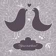 Lace birds kissing. — Image vectorielle