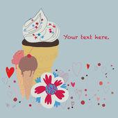 Ice-cream card. Vector. — Stock Vector