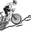 MTB biker - Stock Vector