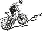 Vtt biker — Vecteur