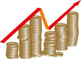 Profit growth — Stock Vector