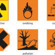 Warning labels — Stock Vector