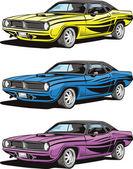 American muscle car — Stock Vector