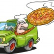 Royalty-Free Stock Vector Image: Pizza delivery