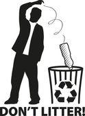 Recycle bin — Stock Vector
