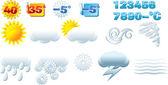 Ikony pogody — Wektor stockowy