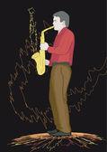 Saxophonist — Stock Vector