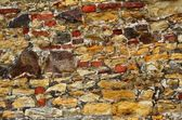 Detail of brick and stone wall — Stock Photo