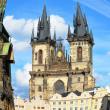 Foto Stock: Tyn Cathedral, Old Town Square, Prague
