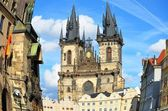 Tyn Cathedral, Old Town Square, Prague — Stock Photo